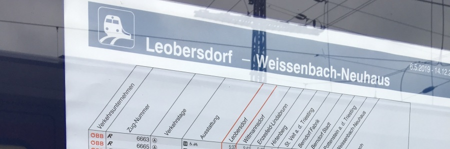 Triestingtal-Takt: Bahngefühl NEU ab/bisWeissenbach